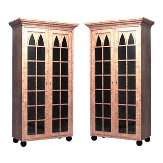 Pair of German Biedermeier Bookcase Cabinets For Sale