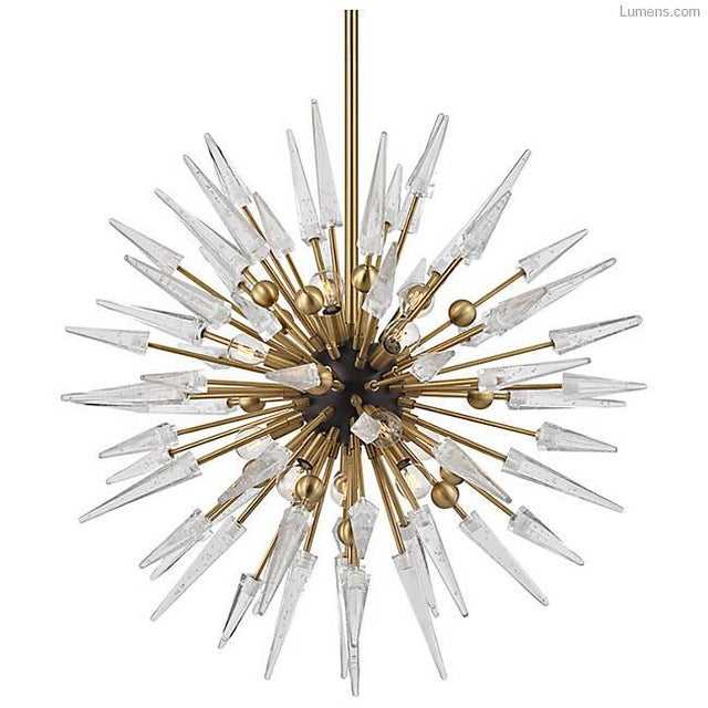 Glam Hudson Valley Lighting Sparta Chandelier - Image 2 of 3