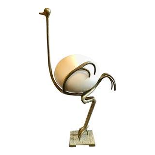Giacometti-Style Ostrich Sculpture For Sale
