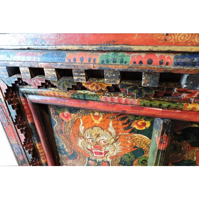 Tibetan Altar Chest With Lion Motif For Sale In San Francisco - Image 6 of 7