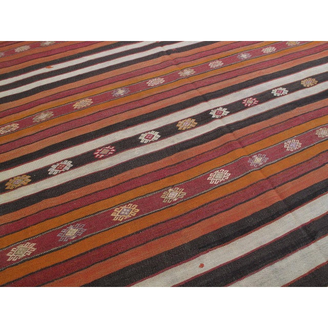 Banded Kilim For Sale In New York - Image 6 of 7