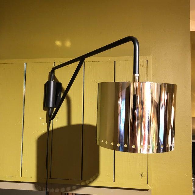 Black & Silver Shaded Wall Lamp - Image 8 of 8