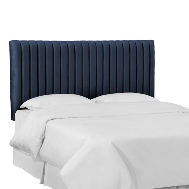 2010s King Channel Headboard in Majestic Navy For Sale - Image 5 of 6