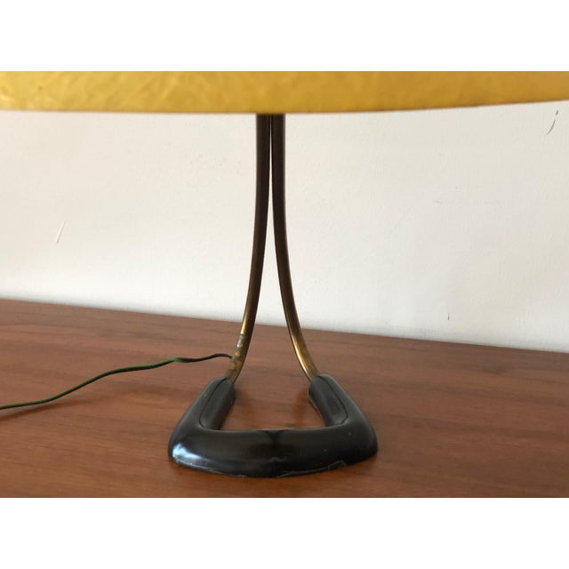 1950s Carl Aubock Table Lamp With Fiberglass Shade For Sale In Tampa - Image 6 of 10