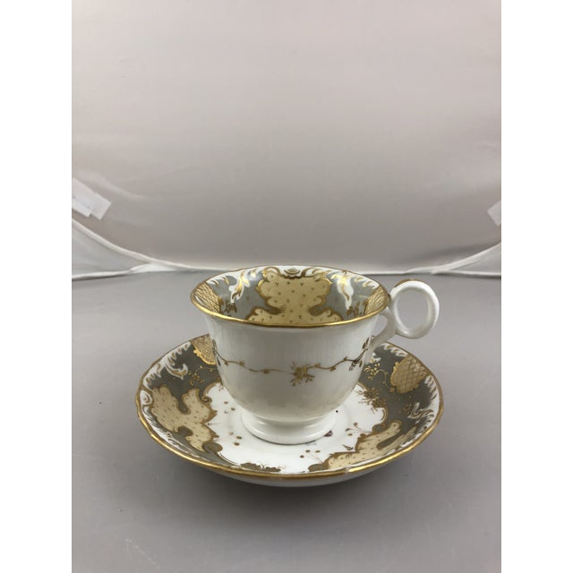 Traditional 1900s Traditional Teacup and Saucer - 2 Pieces For Sale - Image 3 of 6