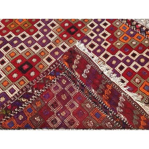 Vintage Embroidered Turkish Rug - 4′5″ × 6′10″ - Image 5 of 5