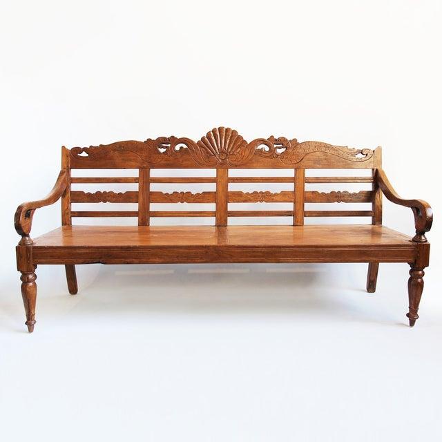 Balinese Teak Bench - Image 2 of 3