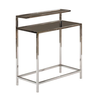 Sarreid Ltd. Stainless Steel Tier Table For Sale