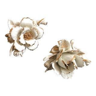 Goodfriend Fine Porcelain Flower Figurines - a Pair For Sale