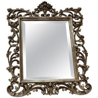 19th Century French Baroque Giltwood Vanity or Wall Mirror For Sale