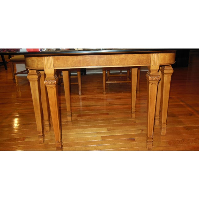 1930's Myrtlewood Dining Table and Chairs (1 of 3 Listings) For Sale - Image 5 of 11