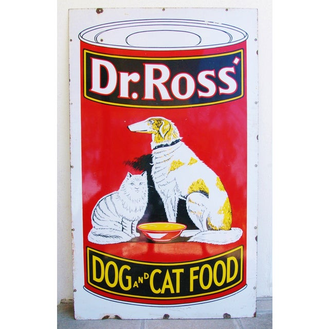 1930s Dr. Ross Dog & Cat Food Advertising Sign - Image 2 of 8