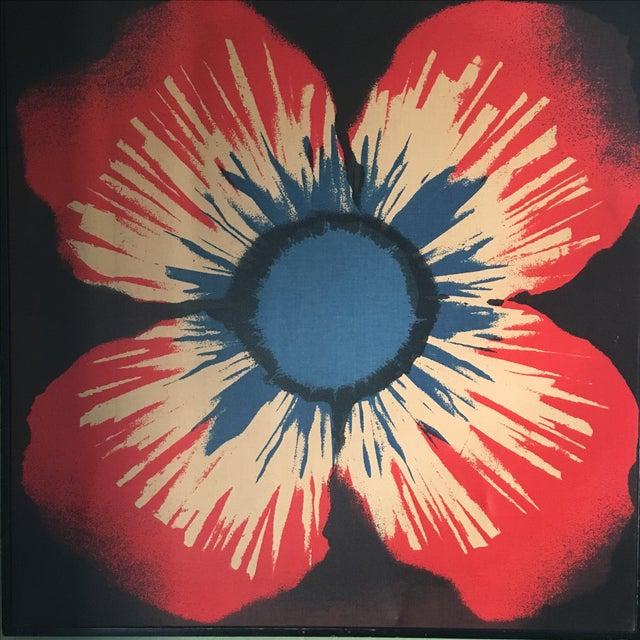 Mid-Century Modern Original Tom Tru Vintage Poppy Sreen Print For Sale - Image 3 of 9