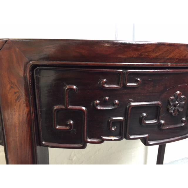 1800's Demi Lune Rosewood Console For Sale - Image 4 of 6