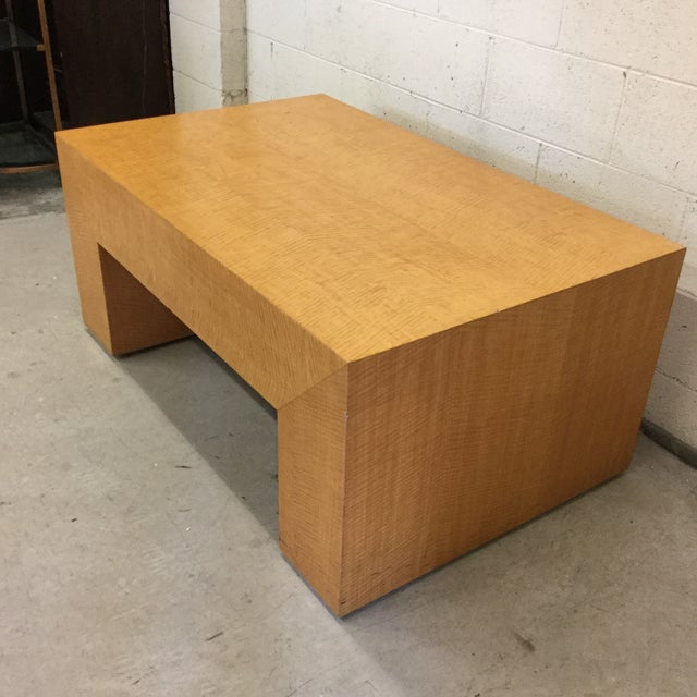 This table came out off an old Anne Taylor clothing store and is signed on the bottom as such. Light wood (Maple) has a...