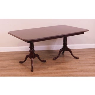 Ethan Allen Solid Cherry Queen Anne Double Pedestal Dining Table Preview
