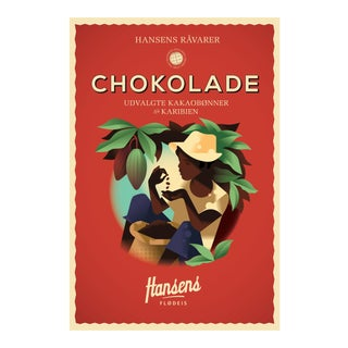 Danish Modern Food Poster, Hansens Chocolate Ice Cream For Sale