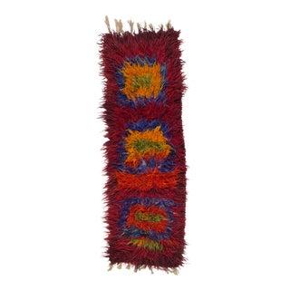 Colorful Turkish Tulu Angora Shag Rug For Sale