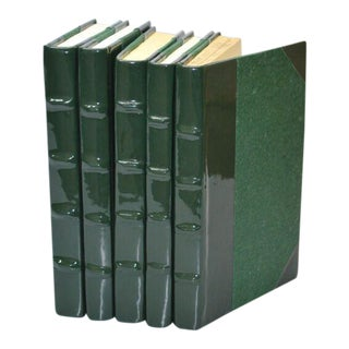 Patent Leather Ivy Green Books - Set of 5 For Sale