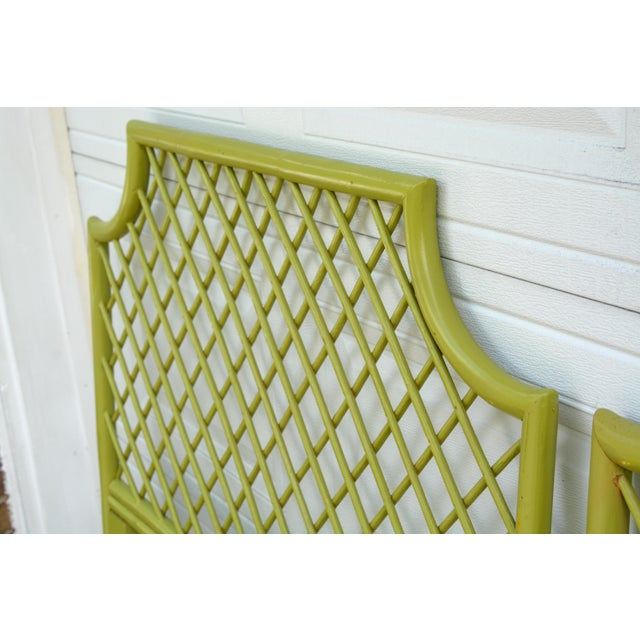 Asian 1970s Chinoiserie Twin Rattan Headboards - a Pair For Sale - Image 3 of 9
