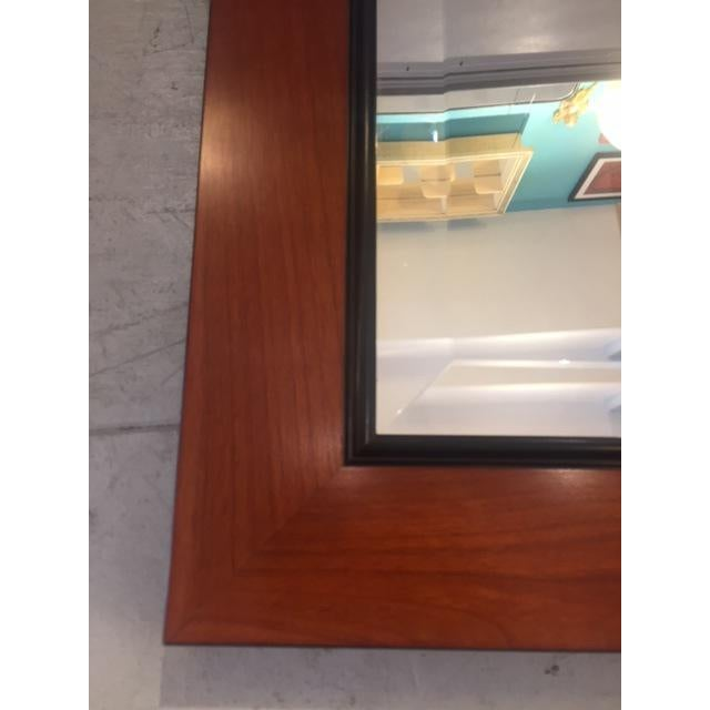 Custom Made Mahogany Framed Beveled Wall Mirror For Sale - Image 9 of 10