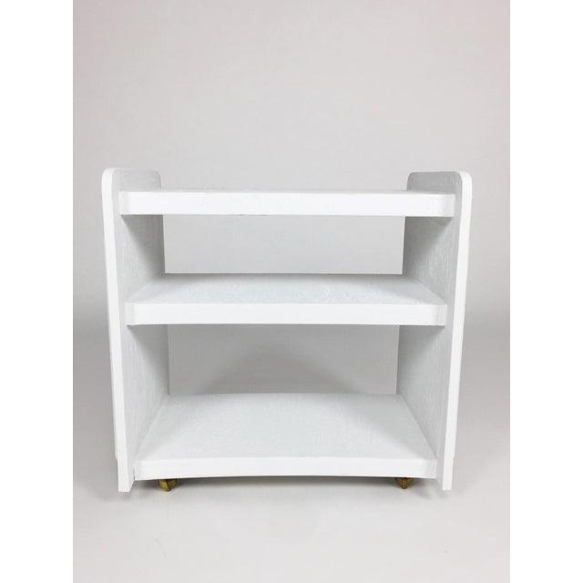 White Post-Modern Bar Cart For Sale - Image 4 of 8