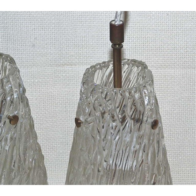 Orrefors Pair of Pendants by Orrefors For Sale - Image 4 of 6