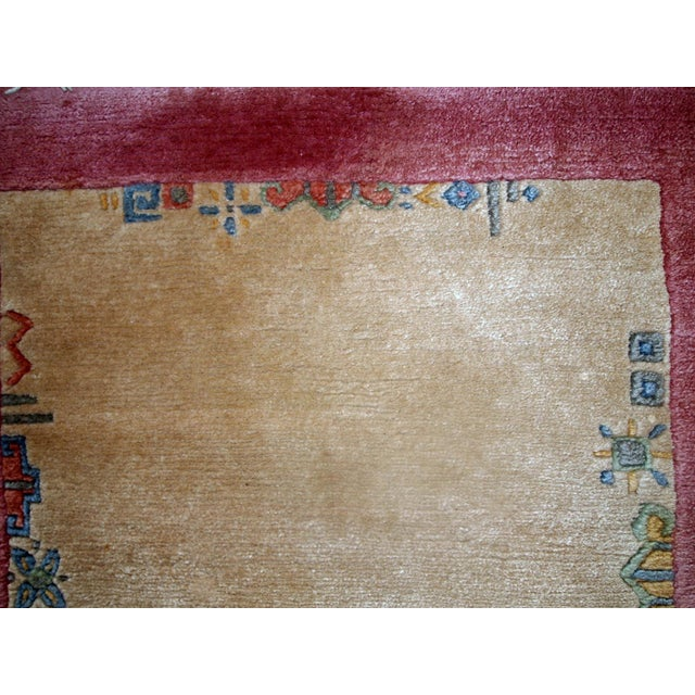 Burgundy 1970s, Handmade Vintage Tibetan Khaden Rug 2.4' X 4.5' For Sale - Image 8 of 11