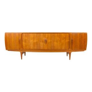 Mid Century Modern Johannes Anderson Teak Tambour Door Credenza For Sale