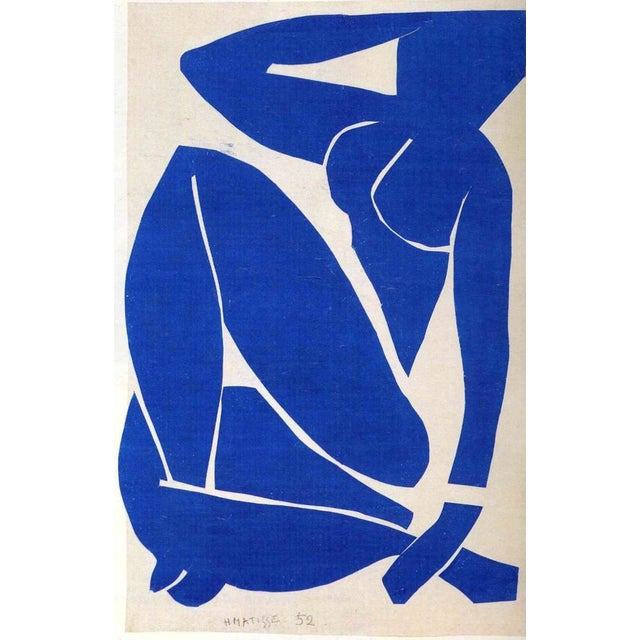 Henri Matisse - Blue Nude 3- Inspired Silk Hand Woven Area - Wall Rug 4′4″ × 6′9″ For Sale - Image 11 of 12