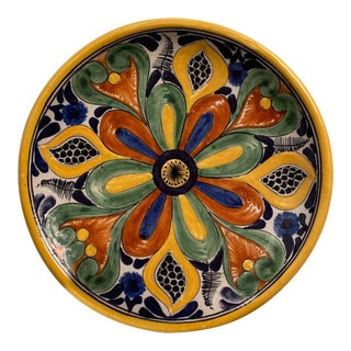 Vintage Pottery Plate, Mexico Circa 1900 For Sale