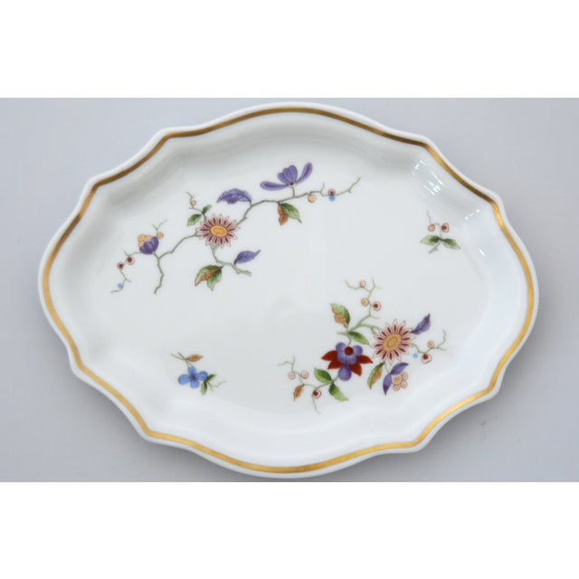 White Richard Ginori Oriente Italian Porcelain Relish Dish For Sale - Image 8 of 8