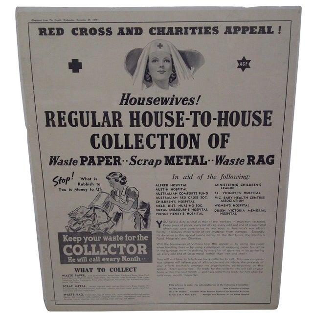 Vintage Red Cross Newspaper Advertisement 1940 - Image 1 of 6