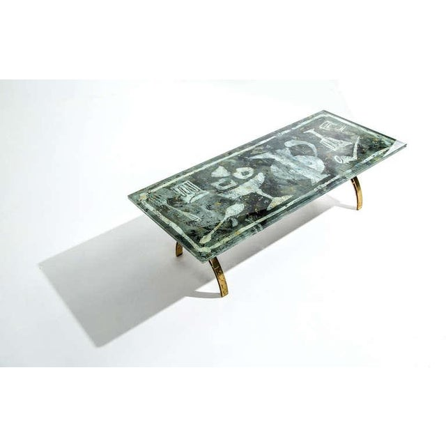 Art Deco Fontana Arte Dubé (Duilio Bernabe) Coffee Table, Circa 1950s For Sale - Image 3 of 8