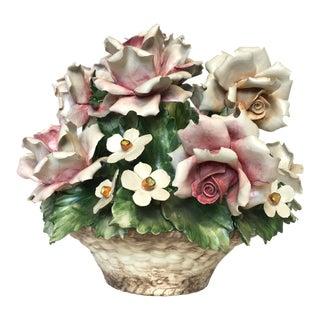 Vintage Italian Porcelain Floral Epergne
