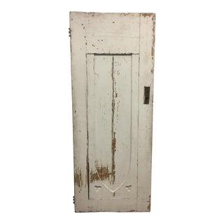 Vintage Rustic White Wooden Door. For Sale