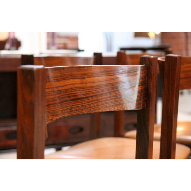 Brown Six Gianfranco Frattini Chairs For Sale - Image 8 of 11