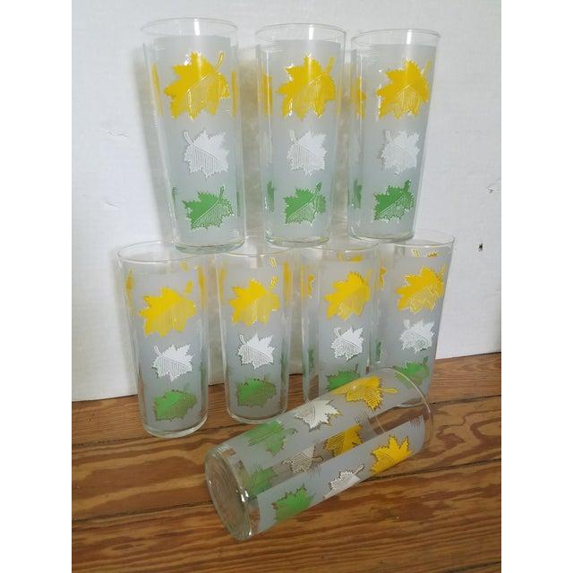 Farmhouse Oak Leaf Glasses - Set of 8 For Sale - Image 3 of 3