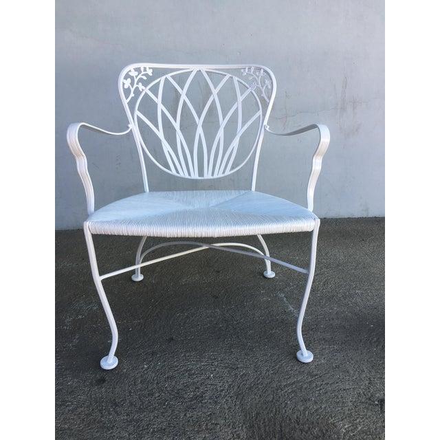Art Nouveau Woodard Art Nouveau Iron Patio/Outdoor Lounge Chairs, 9 Available For Sale - Image 3 of 7