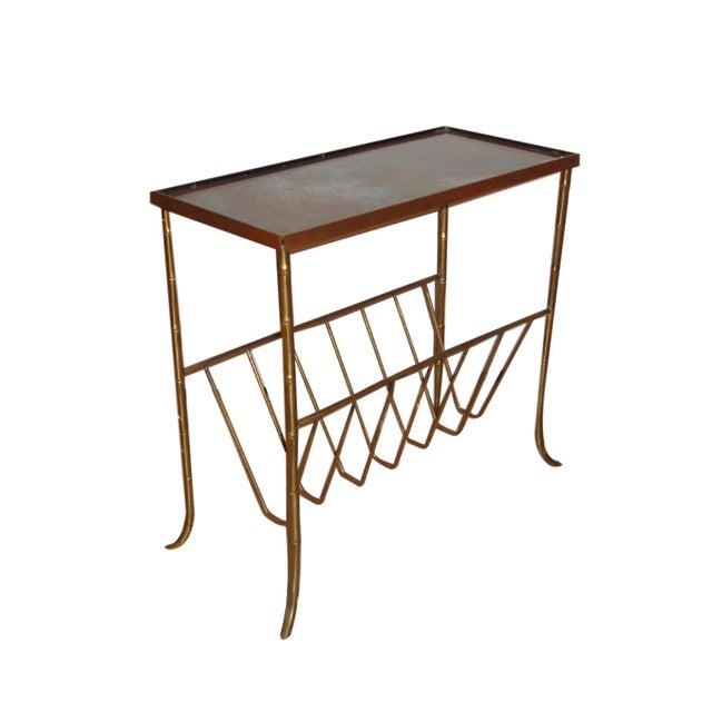 Jansen Style Bronze Bamboo Magazine Table - Image 1 of 9