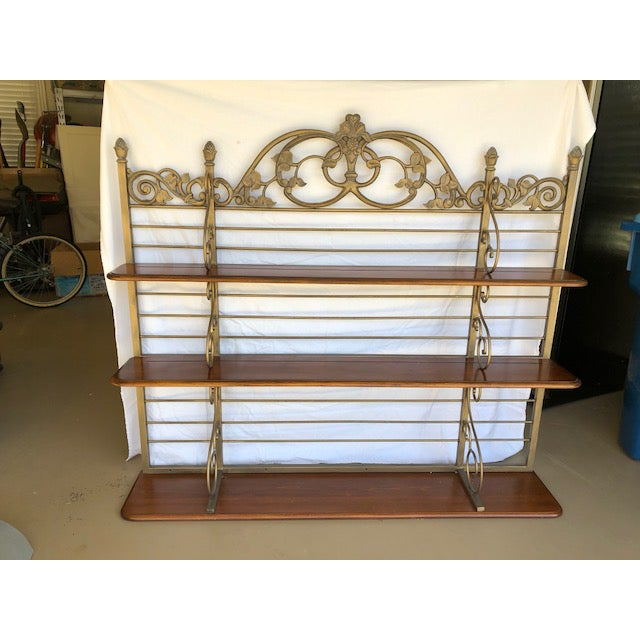 Iron & Wood Baker's Wall Rack/Shelf - Image 6 of 7