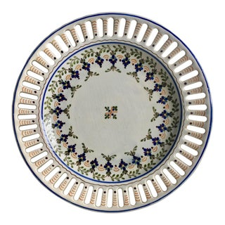 Carvalhinho Porto Hand-Painted Faience Dish-Portugal For Sale