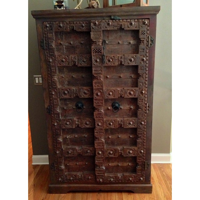 Vintage Hand-Carved Armoire - Image 2 of 4
