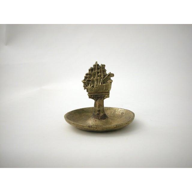 Brass Ship Dish - Image 5 of 9