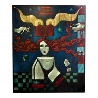 Janet and Emmanuel Snitkovsky Painting For Sale