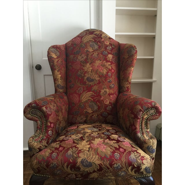 Antique Wingback Chair - Image 3 of 7