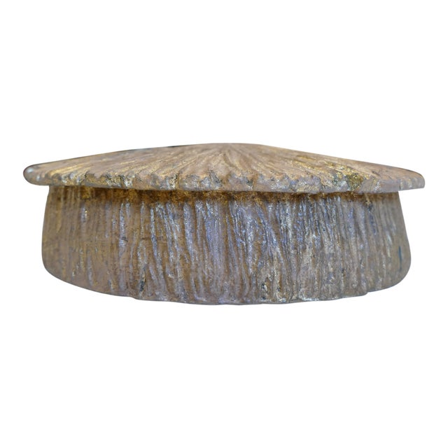 Feather Coral Round Box For Sale