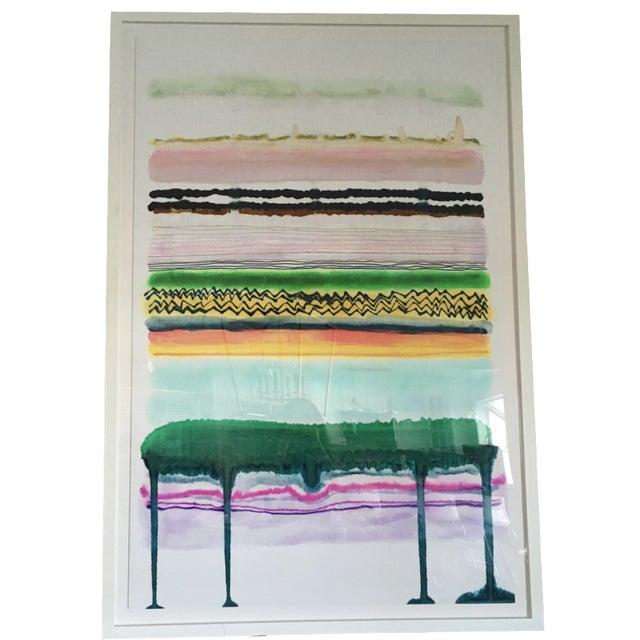 """Hapi Art"" Emerald Drip by Kristi Kohut - Image 1 of 3"