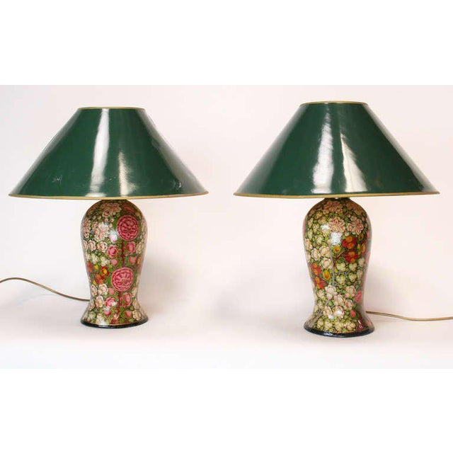 Incredible 19th century english papier mache lamps a pair decaso 19th century english papier mache lamps a pair image 6 of 6 aloadofball Gallery