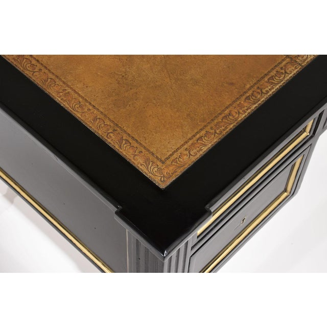 French Louis XVI-style Ebonized Desk - Image 7 of 10